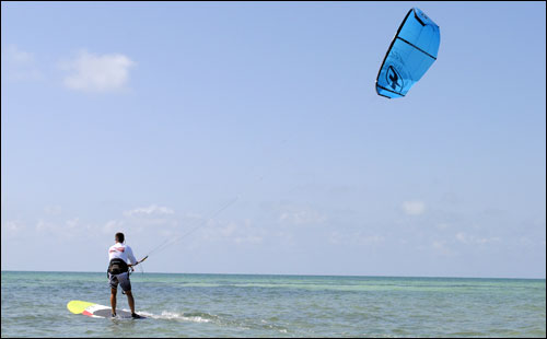 SUP Kiting in the Florida Keys